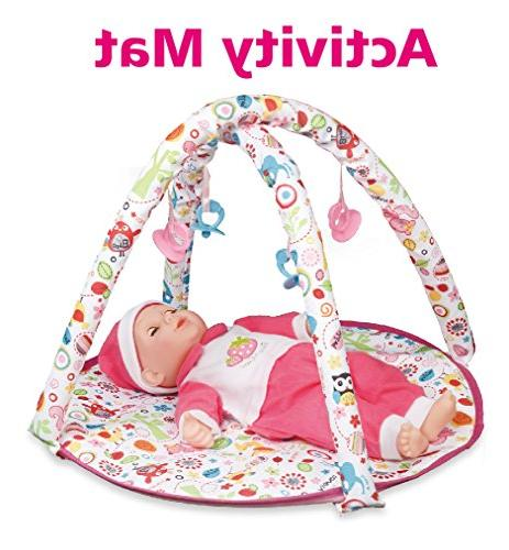Liberty 5-in-1 Newborn Doll Nursery with Mat, Playard, Baby and Bag