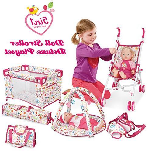 1 deluxe doll stroller nursery