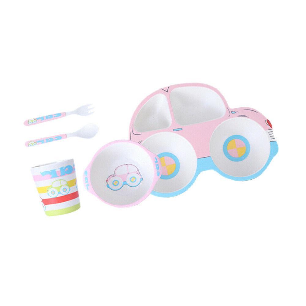 1 Set of Children Dinnerware Durable Plate for Children Baby