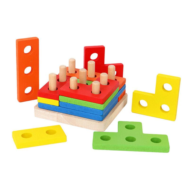 1 Set Matching Block Stack Sort Kids