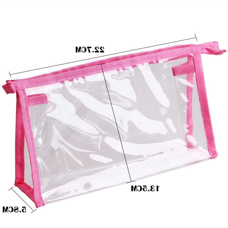 1 x Transparent PVC Cosmetic Bag Care Bathroom Bag