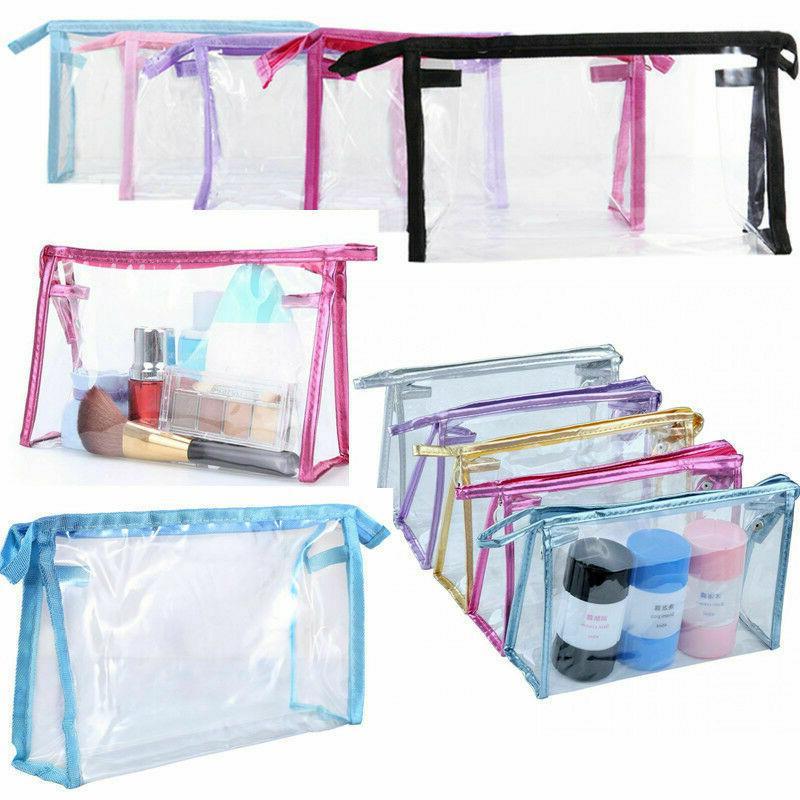 1 x Transparent PVC Cosmetic Bag Skin Care Cosmetics Bag