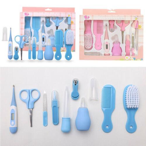 10pcs Baby Newborn Health Care Set Nail Hair Brush Thermomet