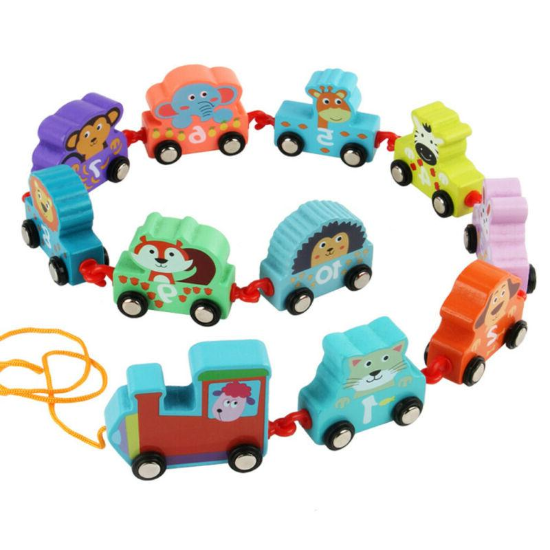 Cartoon Towing Train Toy Early Educational For
