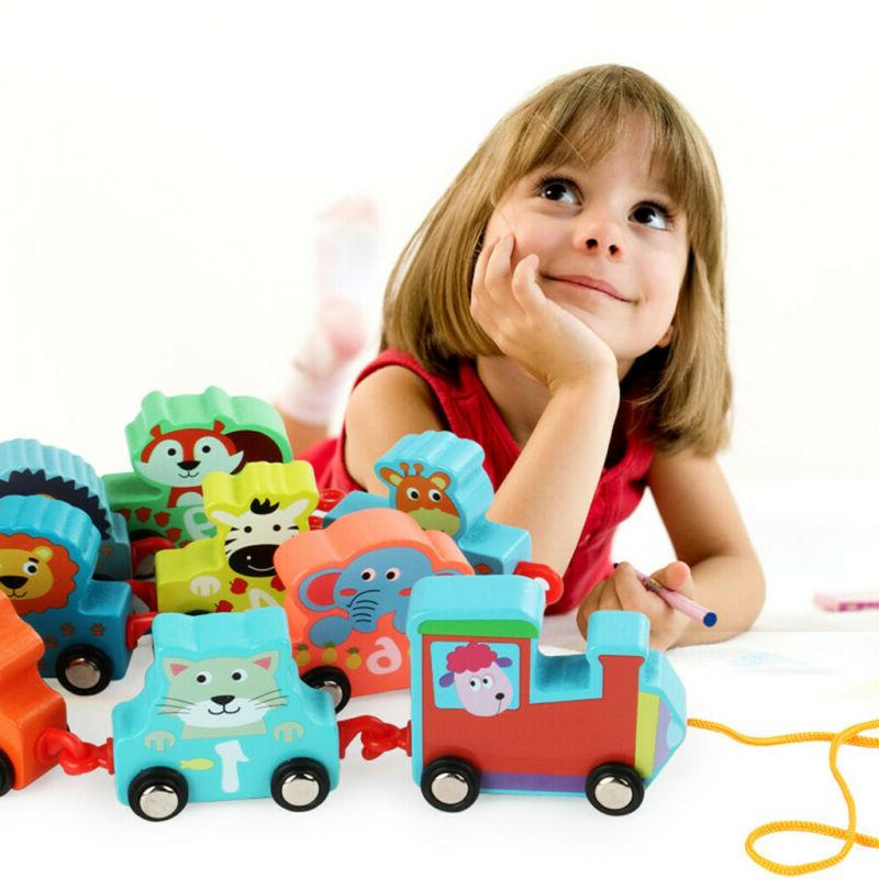 11PCS Toys Cartoon Train Early For