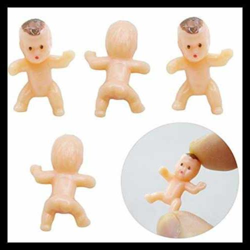 120 PC Plastic TINY Doll Party Shower