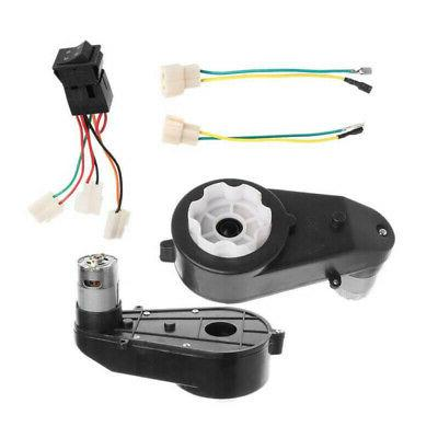 12V Universal Ride On Toys Gearbox Motor Cables Set 23000RPM