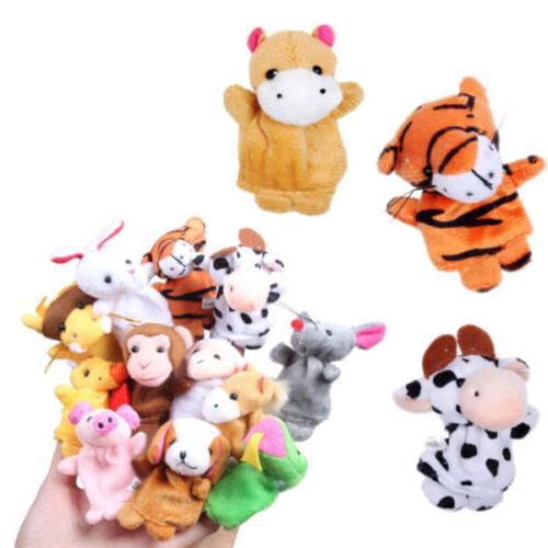12Pcs Boys Girls Baby Party Farm Zoo Animal Finger Puppets E