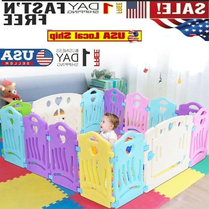 baby playpen kids activity center 14 panel