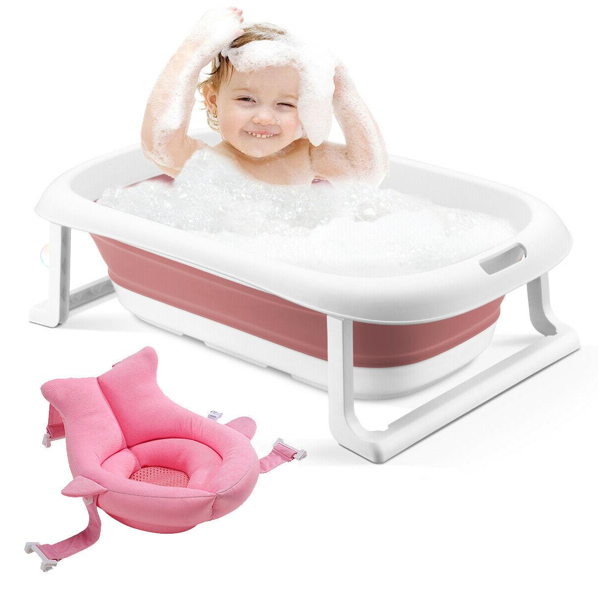 3-in-1 Baby BathTub portable Collapsible Toddler Foldable In