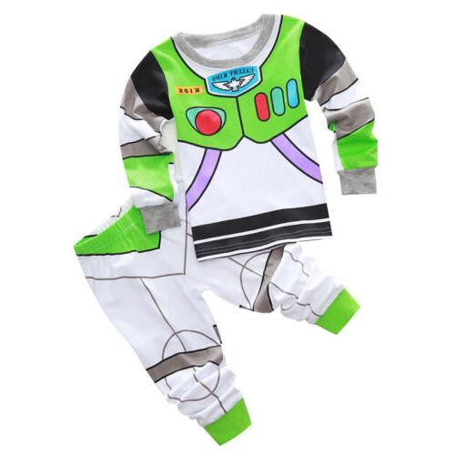 Toddler Kid Boy Toy Story Lightyear Woody Sleepwear Set Outfit