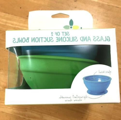 Brinware Piece and Suction Bowls Blue and in