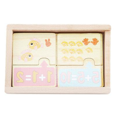 20pcs Baby Wood Toy Jigsaw Animals Math Learning Gifts