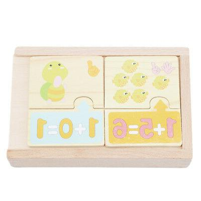 20pcs Baby Puzzle Toy Jigsaw Animals Number Math Learning Gifts