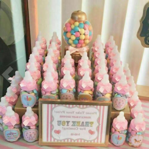 24 PCS Plastic Baby Party Birthday Decorations Bottles Shower