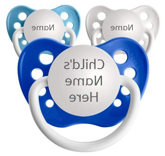 3 personalized pacifiers classic boys pack child