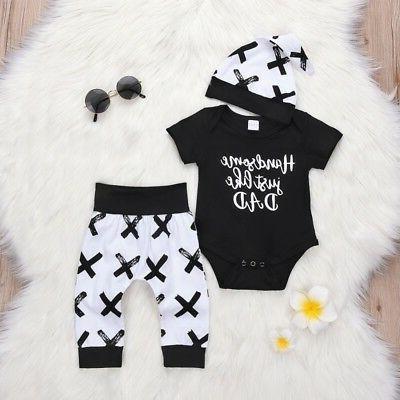 3pcs newborn toddler infant baby boy girl