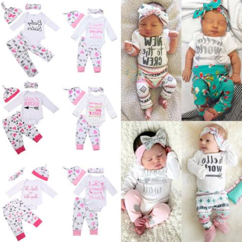 Newborn Infant Baby Girl Outfits Clothes Romper Jumpsuit Bod