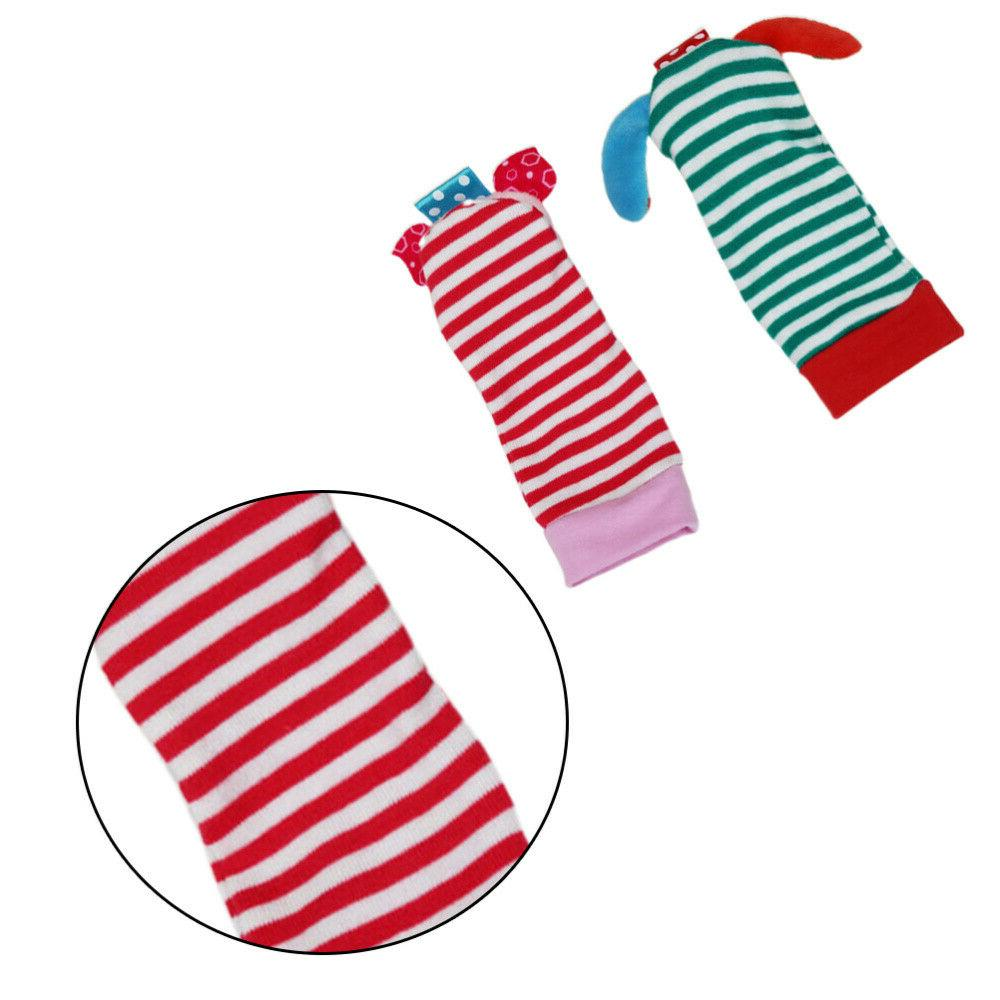 4Pcs Wrist Bell Toys Durable Portable Cotton Bell Socks for