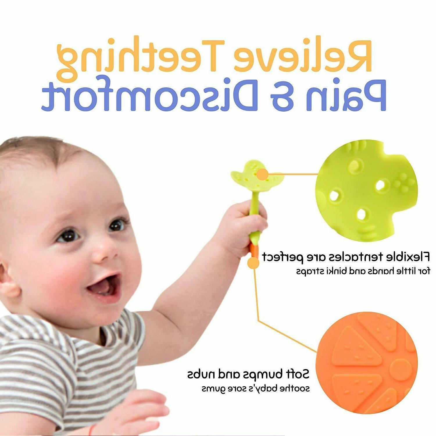 5 Pack Teething with Clip for Infants