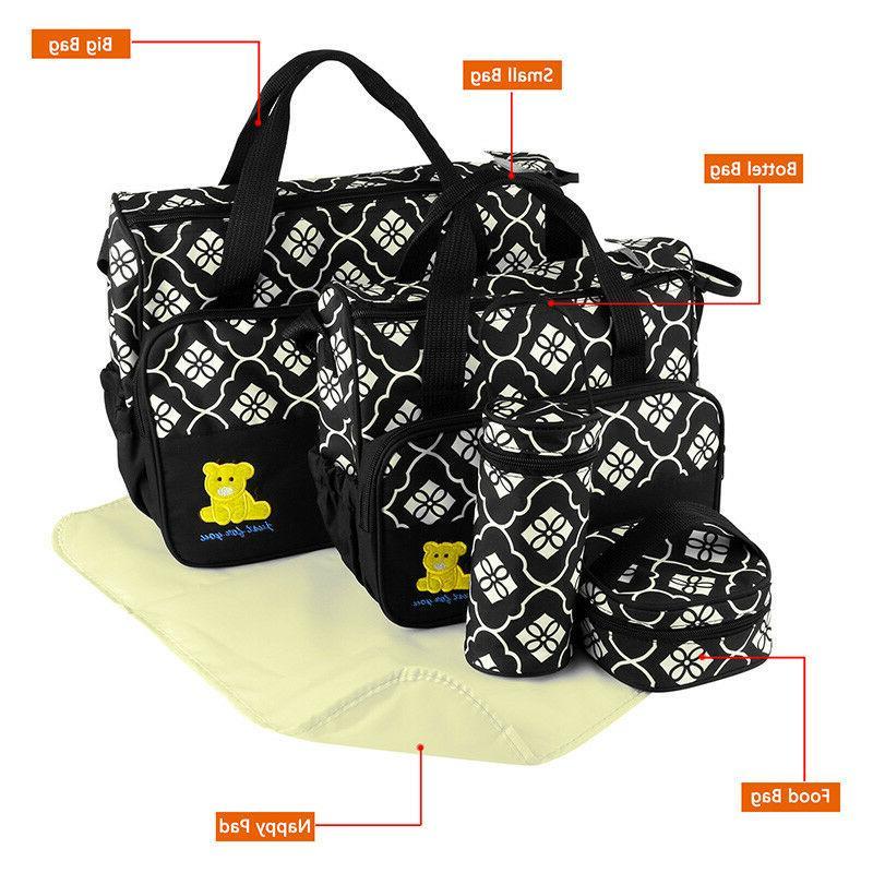 5pcs Changing Diaper Nappy Bag Bottle Mat