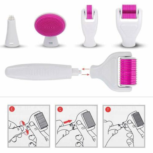 6 1 Roller Facial Therapy Micro Needle For