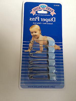 6 pc baby diaper pins safety pin