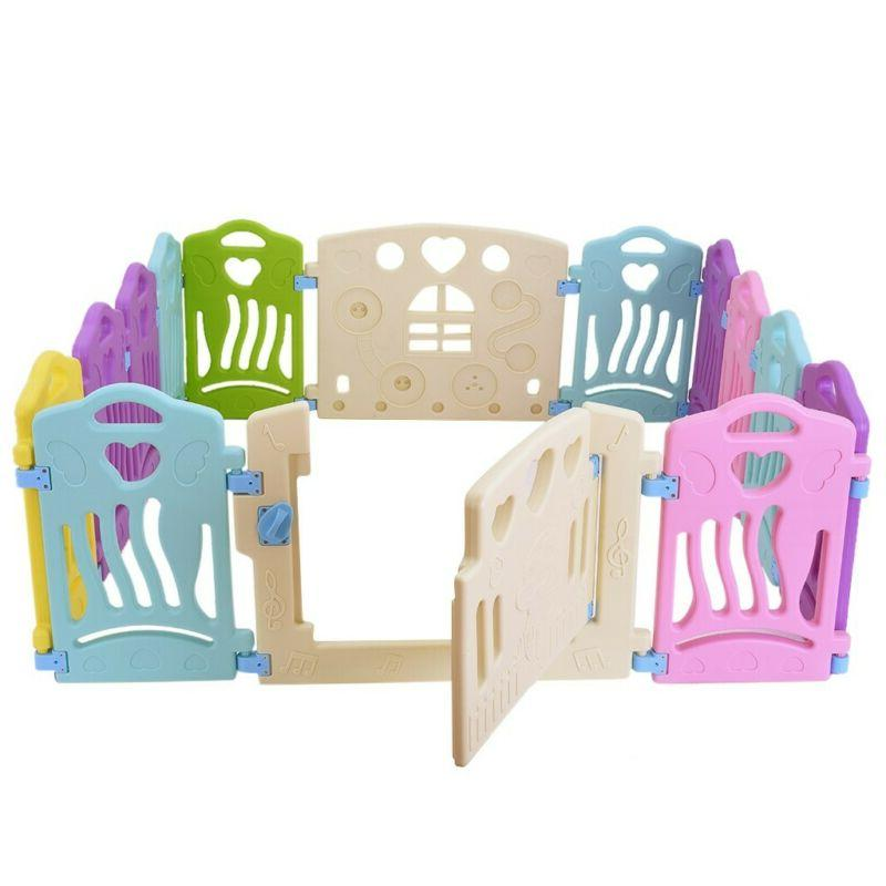 Baby Playpen Kids Activity Center-14 Panel Safety Play Yard US