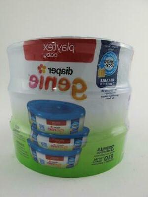 810 Diaper Genie Refill 3 x with Lock