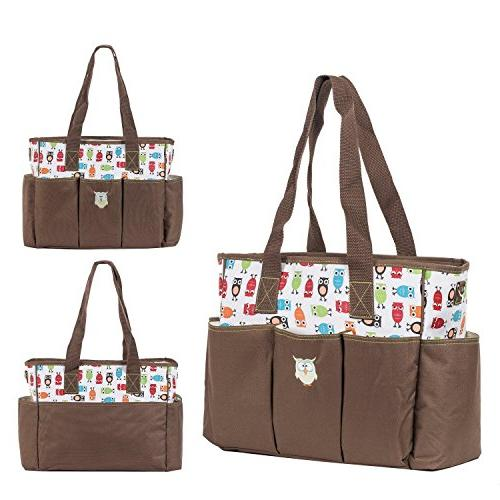 SoHo diaper bag Soren The for mom stylish insulated unisex large capacity changing pad straps case Brown