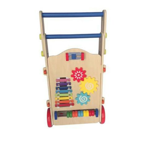 Adjustable Wooden Baby Toddler with Activity Maze Center