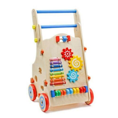 Adjustable Wooden Baby Walker Toddler Activity Maze