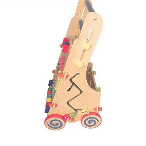 Adjustable Wooden Toddler Activity Center