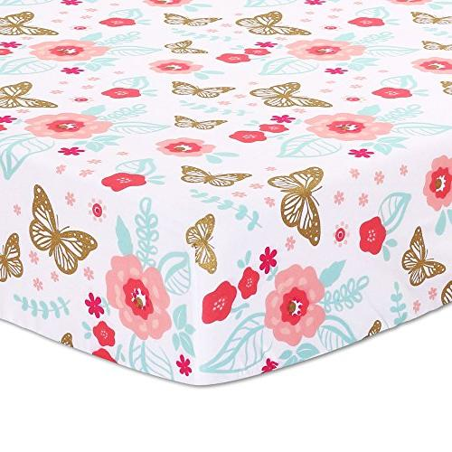 Aflutter 4-Piece Butterfly Flowers Baby Set by