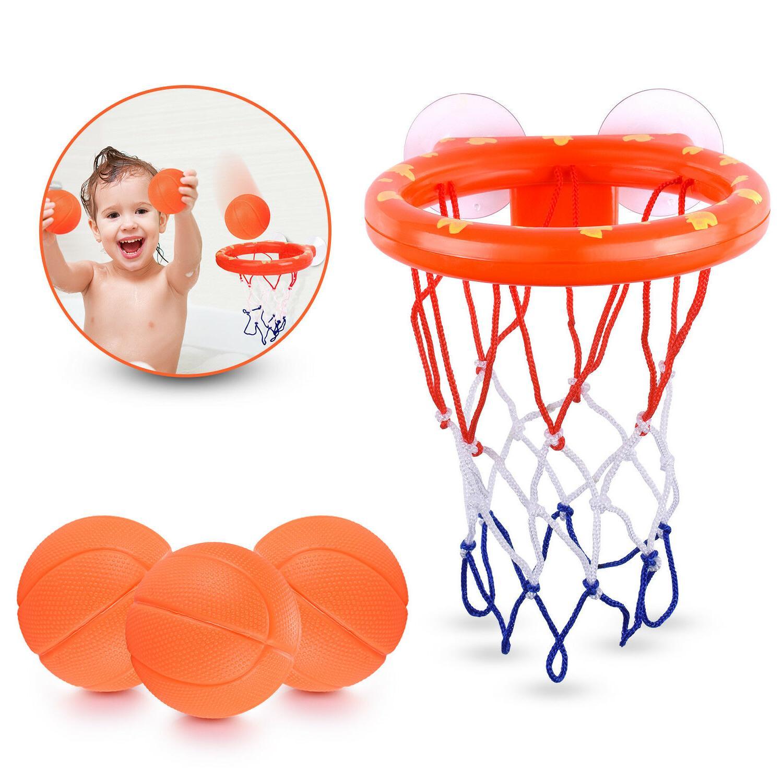 Baby & Toddler Gift Set Bath Toys, Basketball Hoop & Balls,