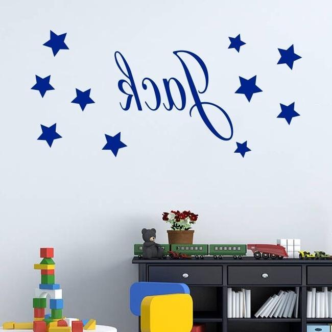 Baby Sticker - Personalised Stars Name Bedroom