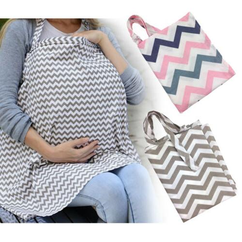 Baby Car Seat Cover Canopy Breastfeeding Nursing Cover Apron