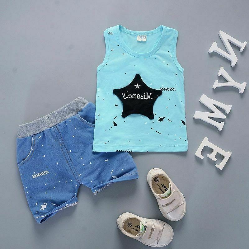 Baby Clothes Set Newborn Boys Summer Sport Suit Cotton Child