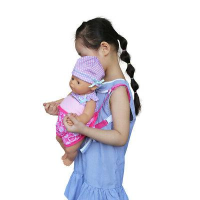 US Baby Doll Carrier Sling Toy Kids Backpack Schoolbag Front