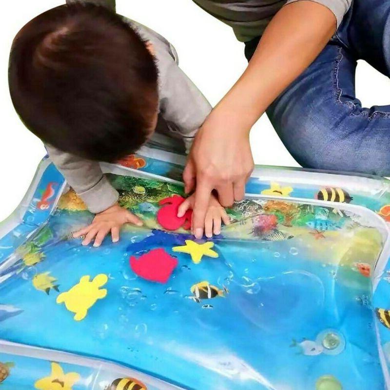 Inflatable Baby Water Mat Fun Activity Play Center Children