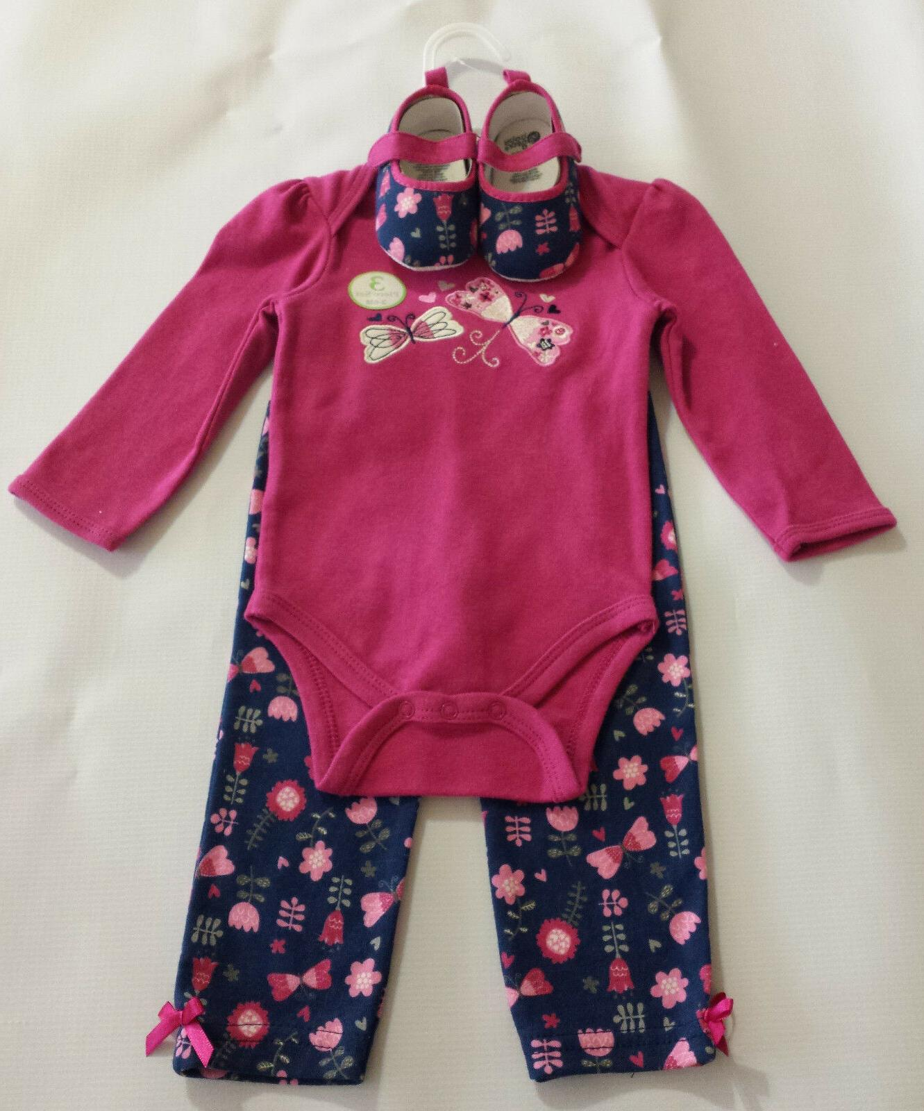 baby gear baby girl butterflies3pc nw outfit