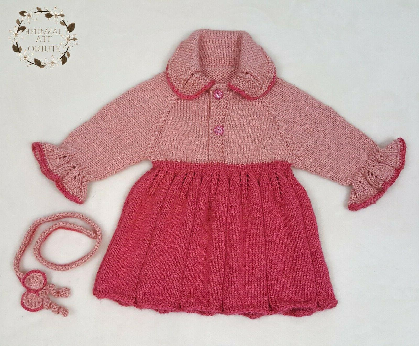 Baby Dress Outfit Shower Gift Present Crochet Handmade