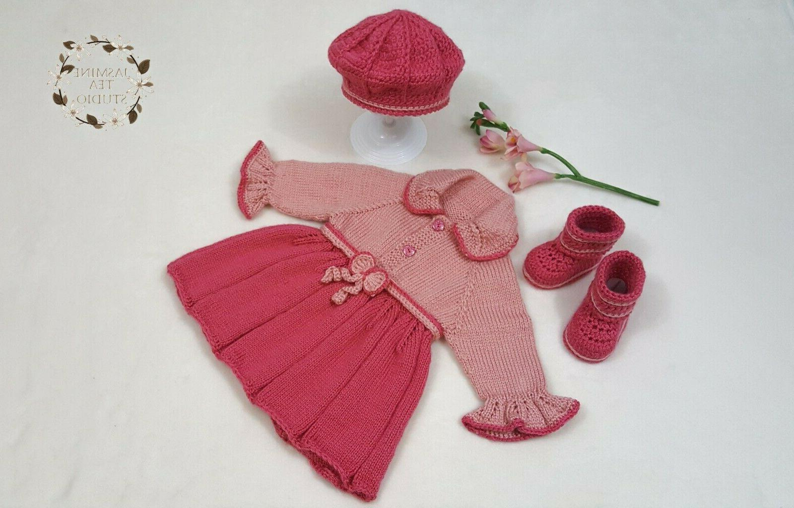 Baby Outfit Shower Set Present Crochet Knitted