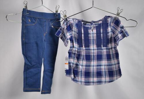Nautica Baby Girls Fashion Top w/Legging 2 Piece Set,Navy La