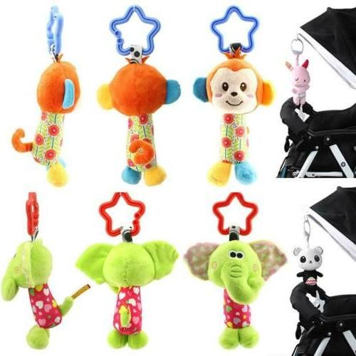 Newborn Baby Bed Stroller Hand Rattles Baby Toys Plush Doll