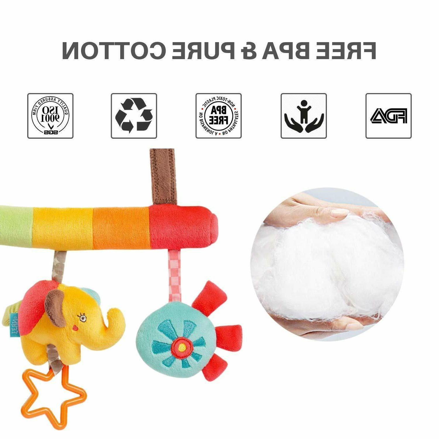Baby Infant Rattles Plush Animal Hanging Bell Fashion