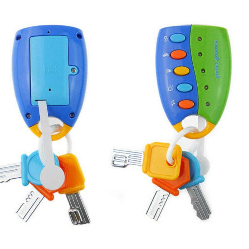 US Baby Musical Car Key Toy Smart Remote Car Voices Pretend