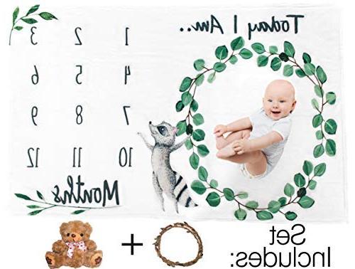 Baby Blanket for or Girl - - Soft, Premium Fleece + Wreath Crown Free Teddy