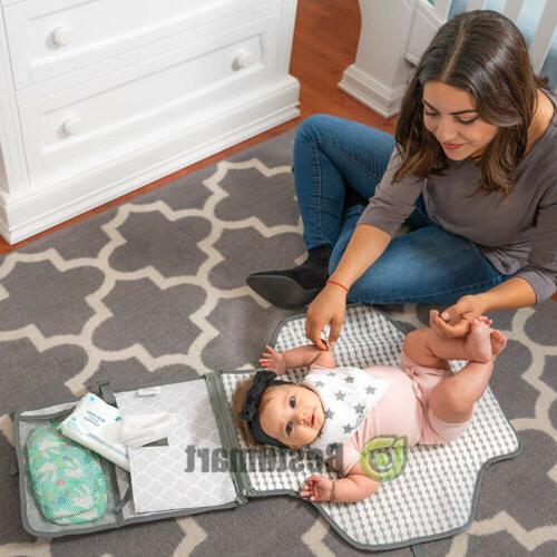 Baby Portable Folding Changing Waterproof Foldable Mat Bag