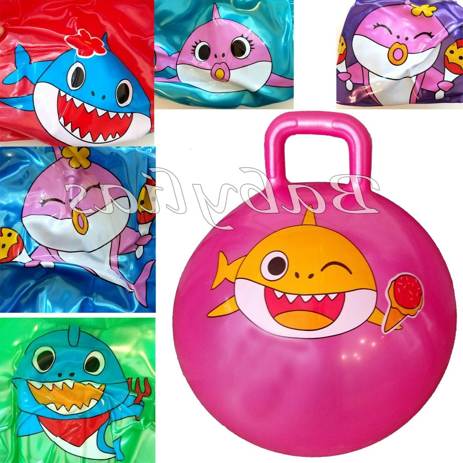 Baby Shark Hopper Ball Bouncy Toy Hippity Hop Jump Ride Boun